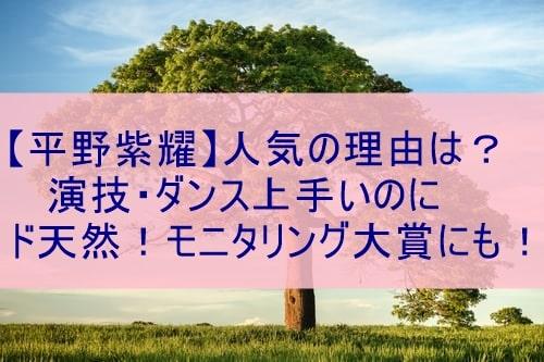 平野紫耀天然