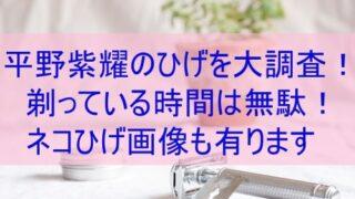 平野紫耀のひげ