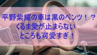 平野紫耀の車はベンツ